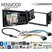 Volunteer Audio Kenwood DNX574S Double Din Radio Install Kit with GPS Navigation Apple CarPlay Android Auto Fits 2007-2011 Chevrolet Aveo