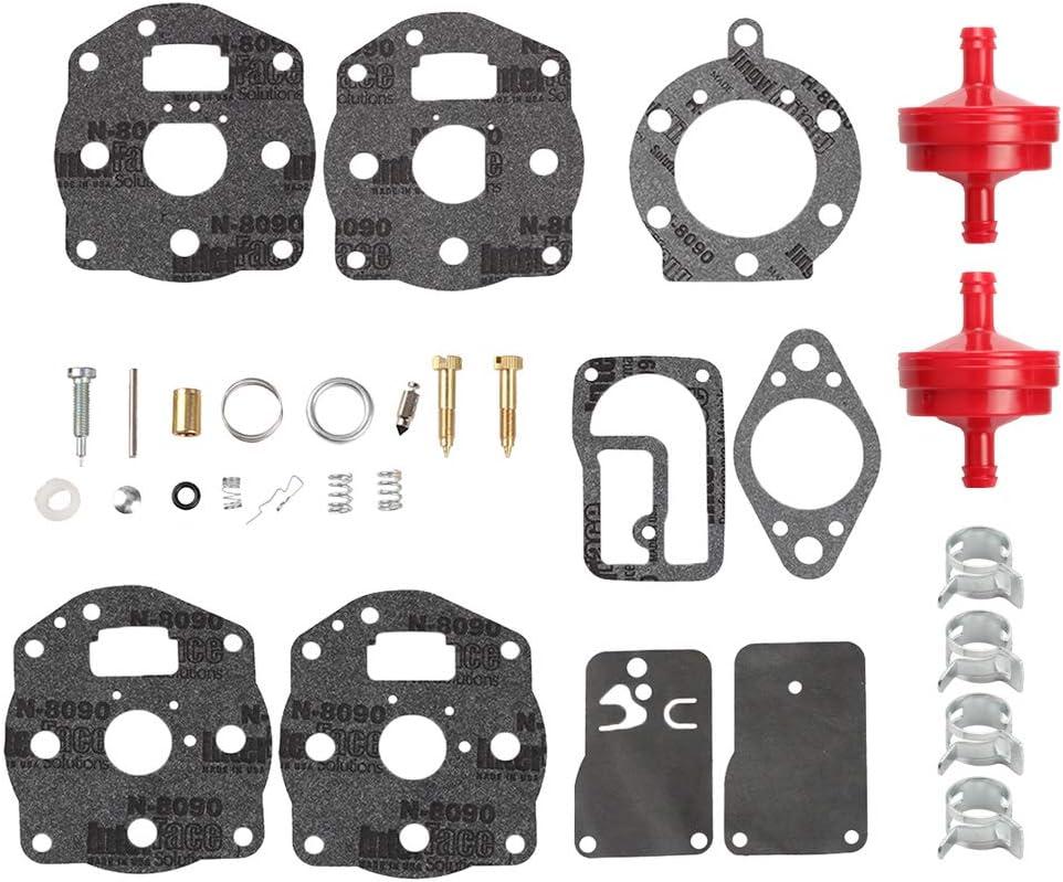 Mengxiang 694056 394502 491539 Carburetor Overhaul Rebuild Kit for Briggs & Stratton 422700 400400 422700 42D700 460700 16HP 18 HP 4 Cycle Engine Toro 30116 Lawn Mower