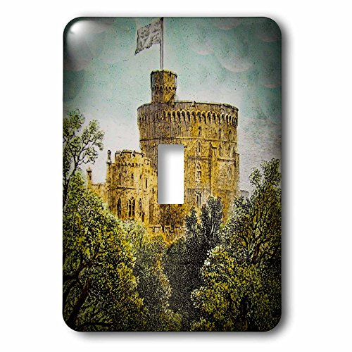 3dRose (LSP_245948_1 Single Toggle Switch Vintage Windsor Castle Round Tower 1880 British Royalty England