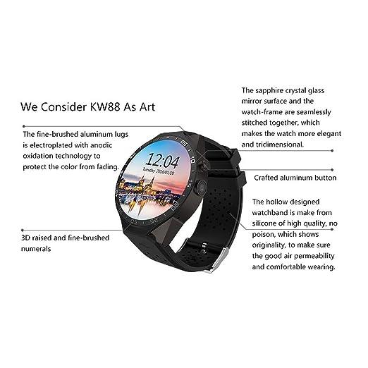 KJHG Smartwatch (GPS) para la Salud y la Forma física con ...