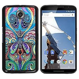 Be Good Phone Accessory // Dura Cáscara cubierta Protectora Caso Carcasa Funda de Protección para Motorola NEXUS 6 / X / Moto X Pro // Floral Pattern Tattoo Art Ink India