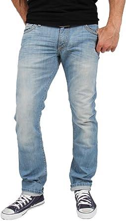Amazon Com Robin Jean Marlon 3d De Color Azul Claro Stretch Denim Slim Leg Clothing