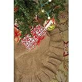 Glory Haus Plain Burlap Tree Skirt, 13 x 15-Inch