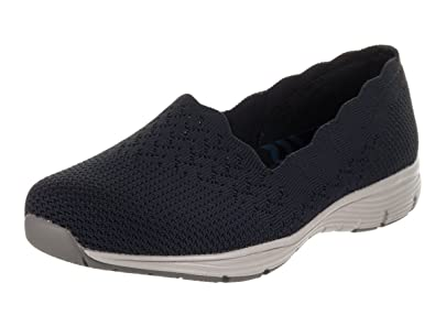 good out x timeless design outlet on sale Women's Skechers, Seager Stat Slip on Shoes Wide Width Navy 9.5 W