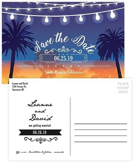 Amazon Com Custom Tarjeta Postal De Invitación Para Boda