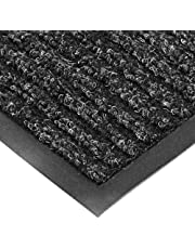 "NoTrax T39 Bristol Ridge Scraper Carpet Mat, for Wet and Dry Areas, 4' Width x 8' Length x 3/8"" Thickness, Midnight"