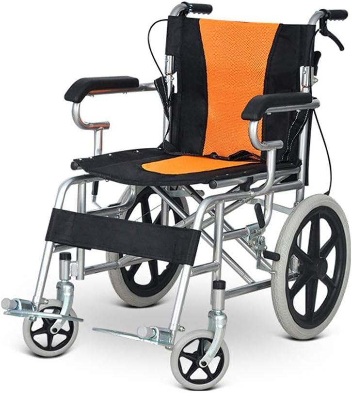 Ancianos Discapacitados Ligeros Plegables Ancianos Discapacitados Conducción en Silla de Ruedas Médico Adulto Freno de Mano Discapacitados Ancianos Ancianos Antideslizantes Portátiles Ancianos Discap