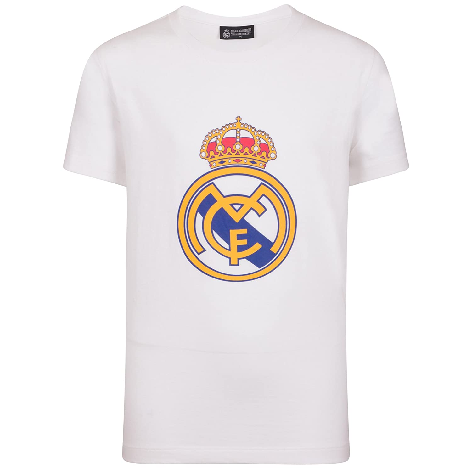 Amazon.com: Real Madrid Official Football Gift Mens Crest T-Shirt: Clothing