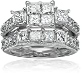 14k White Gold Diamond Bridal Set Ring (3cttw, H-I Color, I1-I2 Clarity), Size 7