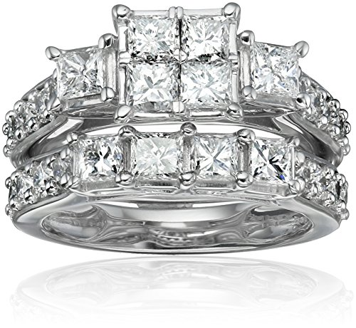 14k-White-Gold-Diamond-Bridal-Set-Ring-3cttw-H-I-Color-I1-I2-Clarity-Size-7