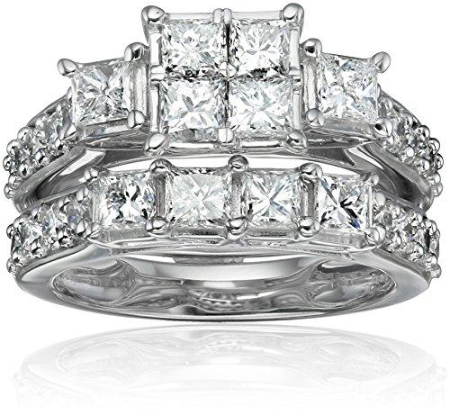 14k-White-Gold-Diamond-Bridal-Set-Ring-3cttw-H-I-Color-I1-I2-Clarity-Size-7