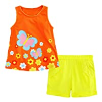 Jobakids Little Girls Short Set Summer Cotton Clothing Set