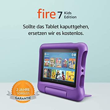 Fire 7 Kids Edition Tablet 7 Zoll Display 16 Gb Violette Kindgerechte Hülle Amazon Devices