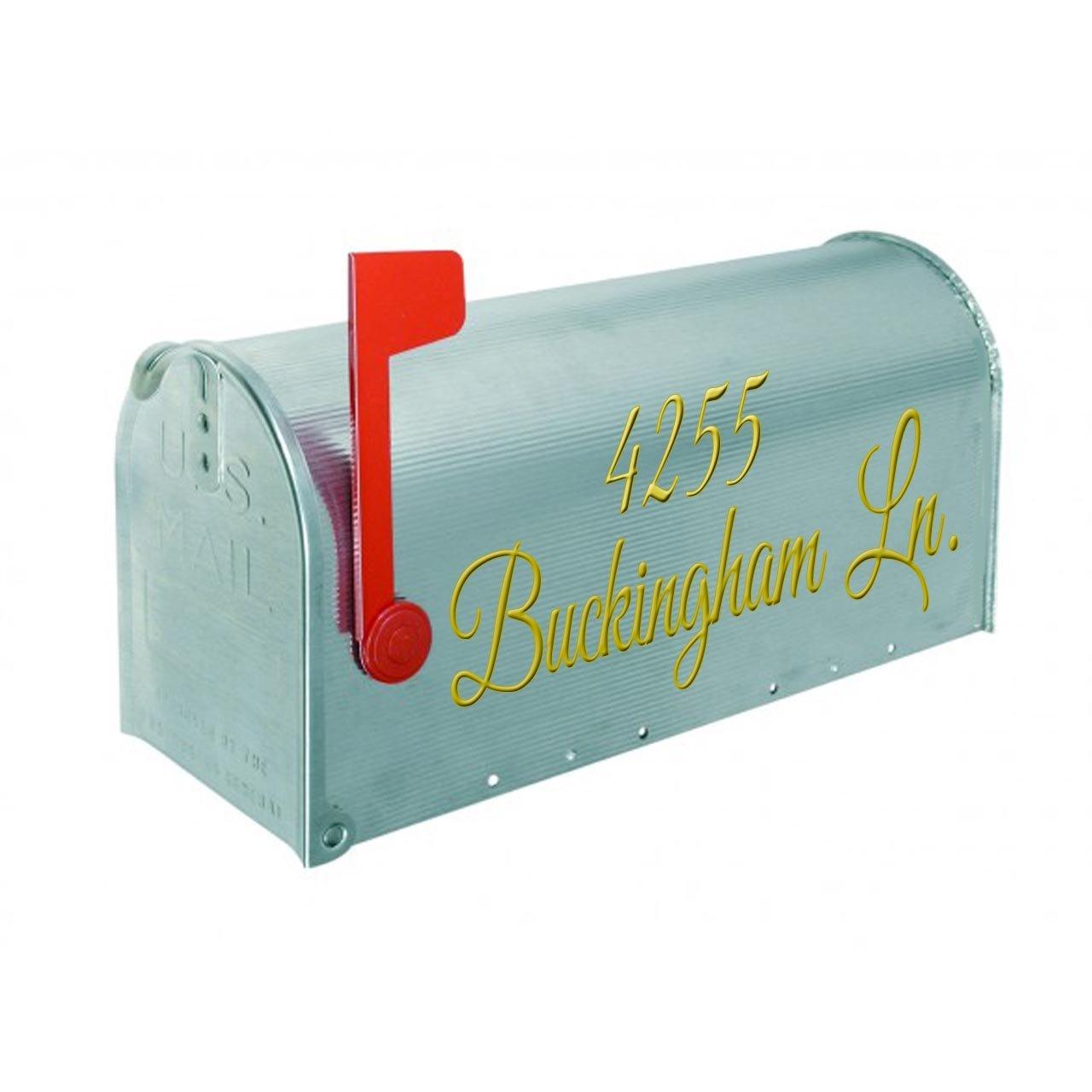 Gold, 19 W X 6.5 H Insert Street Name /& Address Personalized Decals CMB7 VWAQ Mailbox Address Decal Set of 2