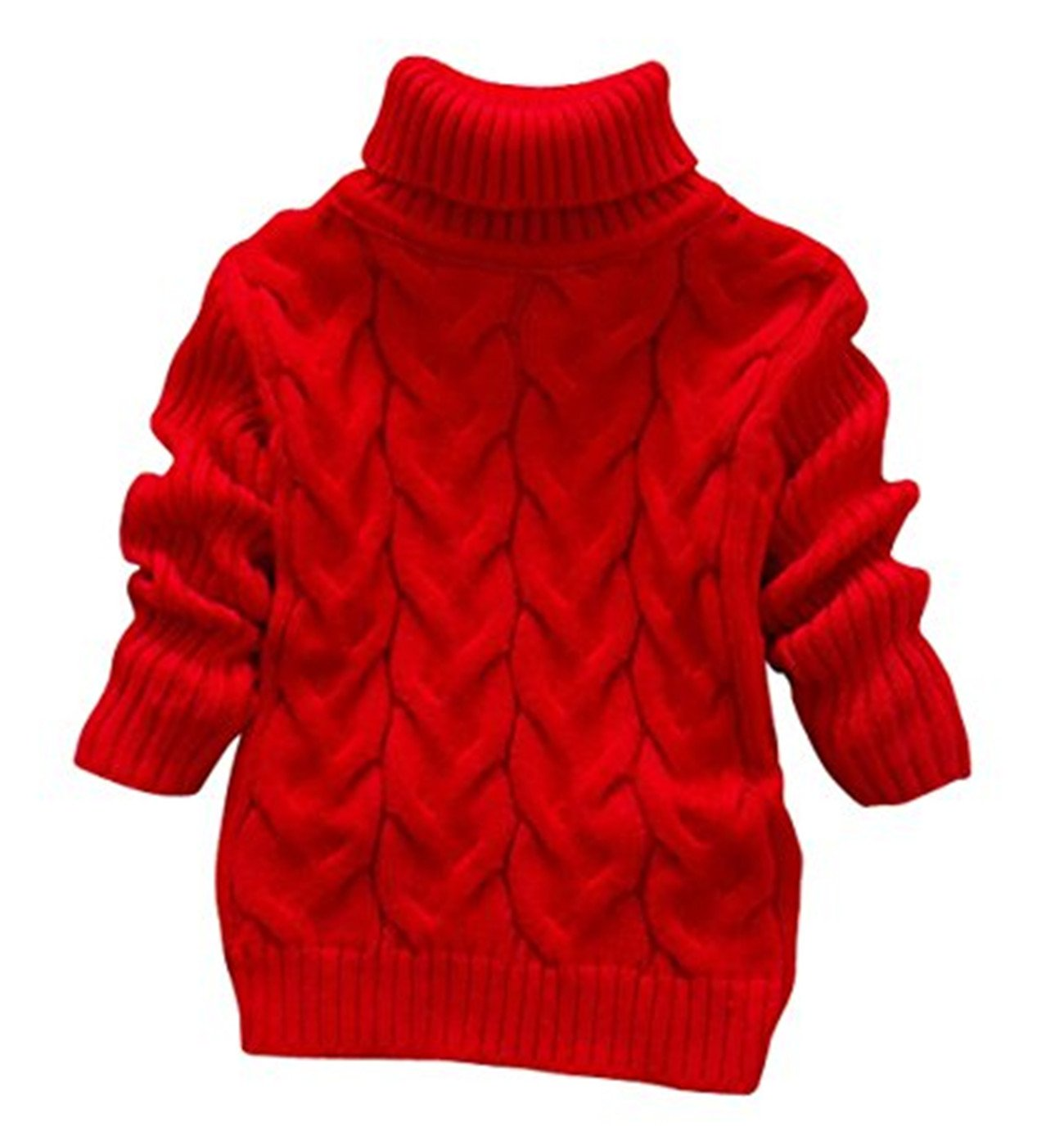 JELEUON Little Girls Baby Solid Color Turtleneck Sweater Soft Knit Warm Sweatshirt BSW3TD154