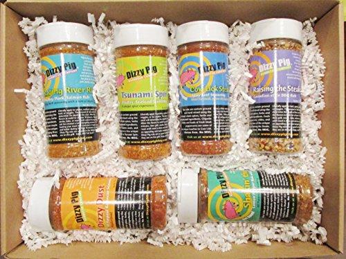 Dizzy Pig BBQ Rubs Seasoning Spice 6 Pack Gift by Dizzy Pig