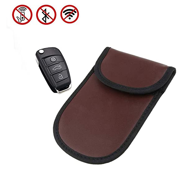 Car Key Signal Blocker Case Keyless Entry Fob Guard Signal Blocking Pouch  Faraday Bag Antitheft Lock Devices Healthy Cell Phone Privacy Protection