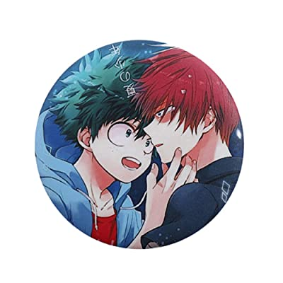Nuofeng - My Hero Academia Animation Cosplay Cartoon Badge Collection Badge Brooch Pins Bag Novel Anime Cartoon Accessories Anime Bags Cloth Decoration(H02): Office Products