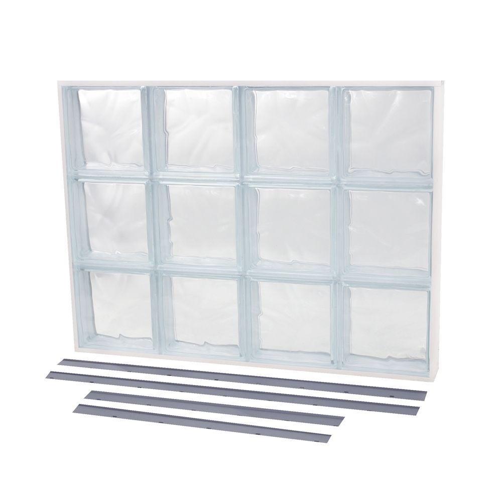 NailUp2 Wave Pattern Solid Glass Block Window