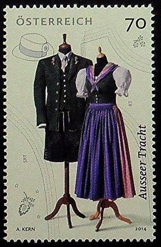 [Ausseer costume Ausseer tracht Austria -Framed Postage Stamp Art 10585] (Postage Stamp Costume)