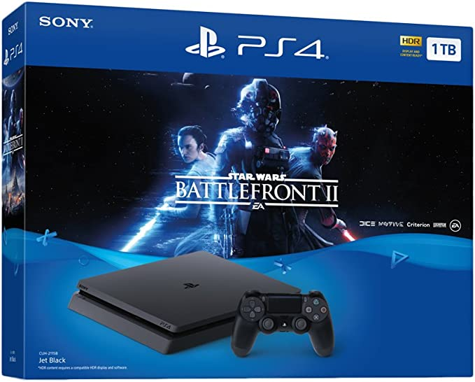 Sony PlayStation 4 Slim STAR WARS: Battlefront II, Black - videoconsolas (Black): Amazon.es: Videojuegos
