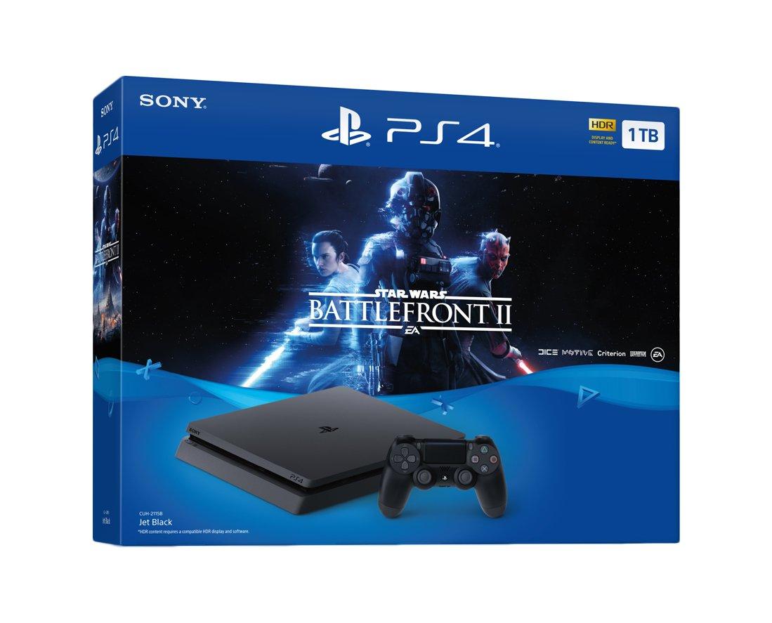 Sony PlayStation 4 Slim STAR WARS: Battlefront II, Black ...