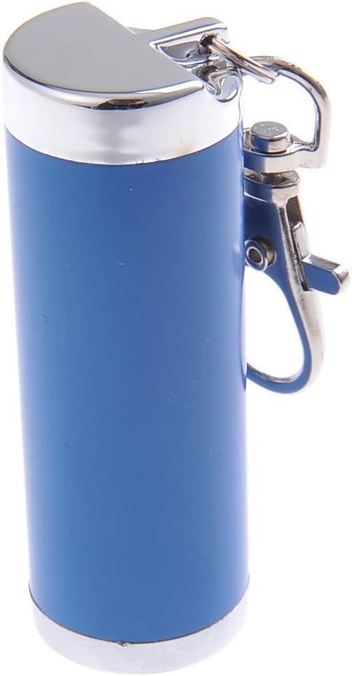 021-01 avec Un Mousqueton en Forme dun Cylindre de Couleur Bleu Mini cendrier//Cendrier de Poche//Cendrier Portable Fait en Alliage de Zinc