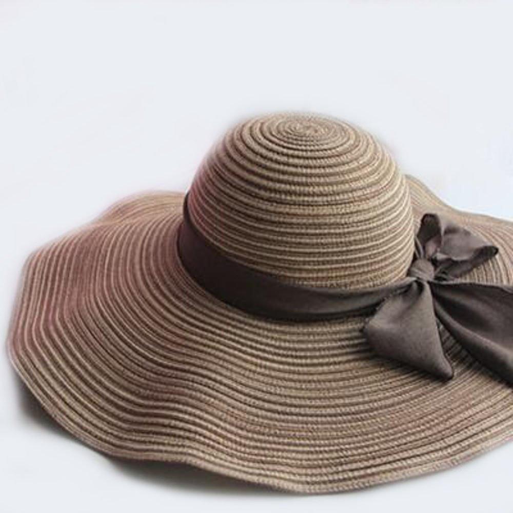 Dixinla Visera Paja de Señora Verano Sol Sombrero Bloqueador Solar Sombrero  Plegable Sombrero de Playa Junto al Mar  Amazon.es  Jardín 86905858b4a