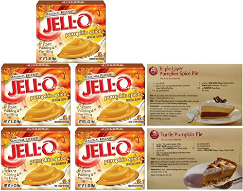 (Kraft Jell-O Instant Pudding & Pie Filling, Pumpkin Spice, 3.4 Oz. (Pack of 5))