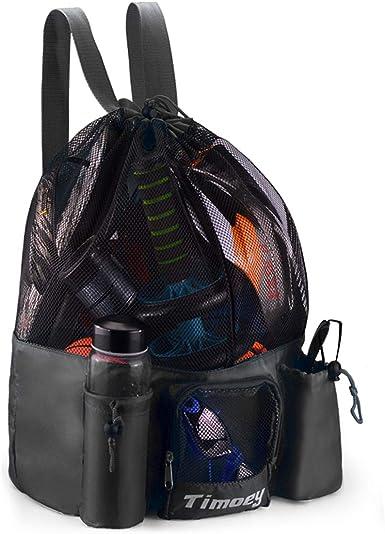 Bag Mesh Bag Drawstring For Tavel Hiking Beach Bag Backpack Storage Bag