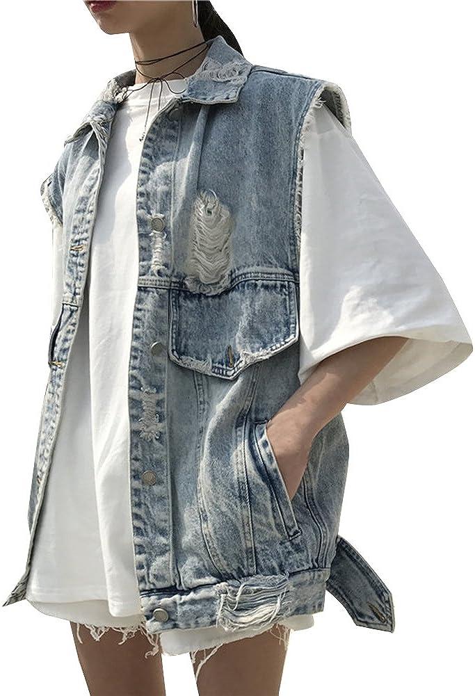 Veste en jean oversize Bleu denim clair FEMME   H&M FR