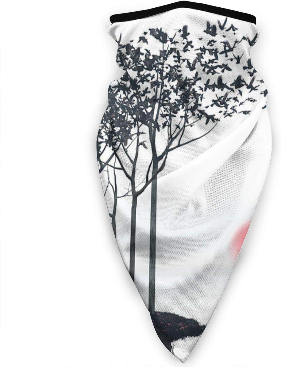 Qing_II - Máscara para la cara, resistente al viento, bandana Aki y diadema multifuncional para la cabeza, protección solar, pasamontañas