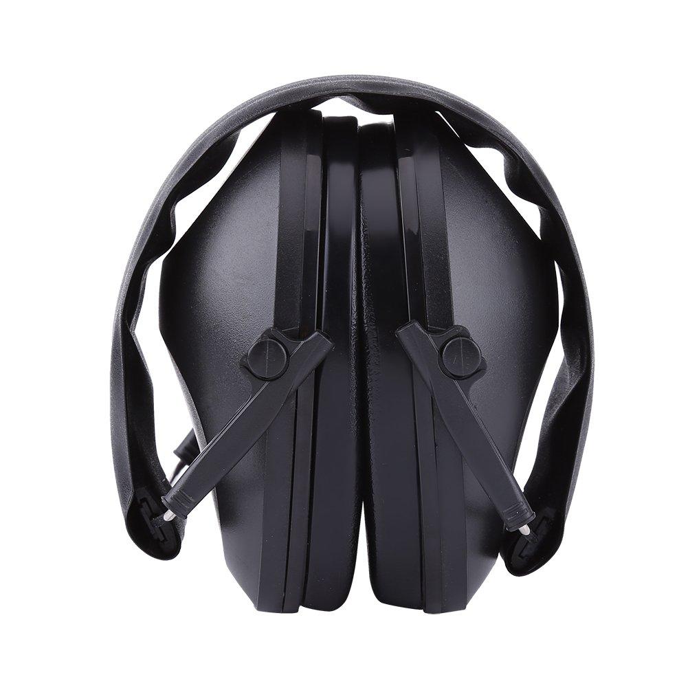 Orejas de Cancelación de Ruido Orejeras Acústicas de Protección Protectores Auditivos Defensores del Oído para Trabejo de Construcción Caza Disparos(Negro) Walfront