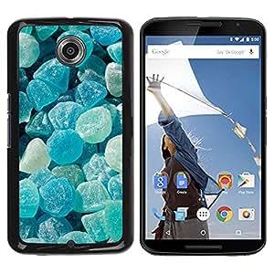 Blue Rocks Soleil - Metal de aluminio y de plástico duro Caja del teléfono - Negro - NEXUS 6 / X / Moto X Pro