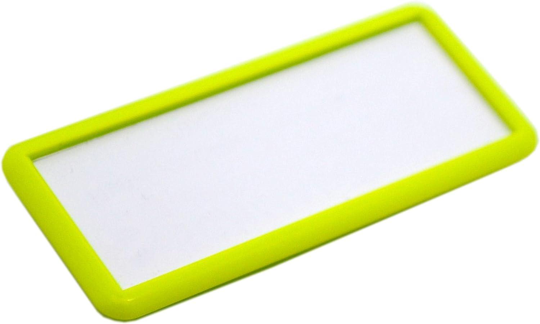 Edles Namensschild aus Kunststoff mit Magnet Name Badge f/ür die Kleidung selbstbeschriftbar wei/ß, 70 x 25 mm
