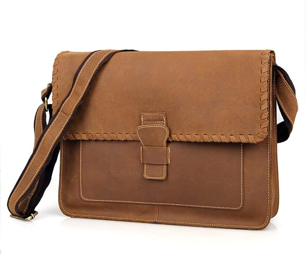 Sdcvopl Laptop Bag Mens Bag Mens Diagonal Bag Retro Envelope Decoration Messenger Bag Can Hold 14-inch Laptop Travel Briefcase with Organizer