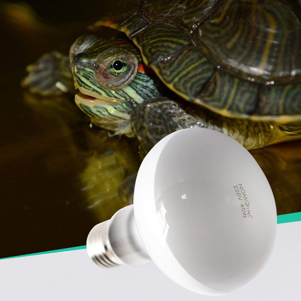 UVB de 220 voltios Bombilla tortuga que toma el sol Bombillas de luz UV L/ámpara de calefacci/ón L/ámpara de reptil UVA Color: Blanco