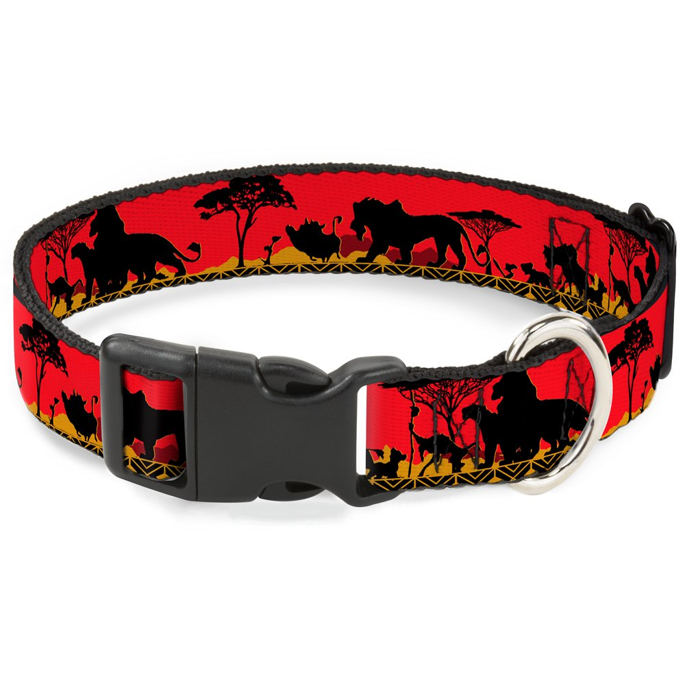 1 2\ Buckle-Down BAC-WDY028-NS Breakaway Plastic Clip Collar, Family Silhouette, 1 2 x 6-9