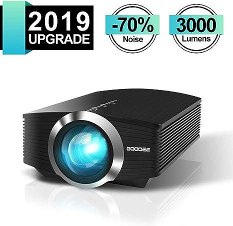GooDee - Mini proyector portátil (2200 lúmenes, LED, Compatible ...