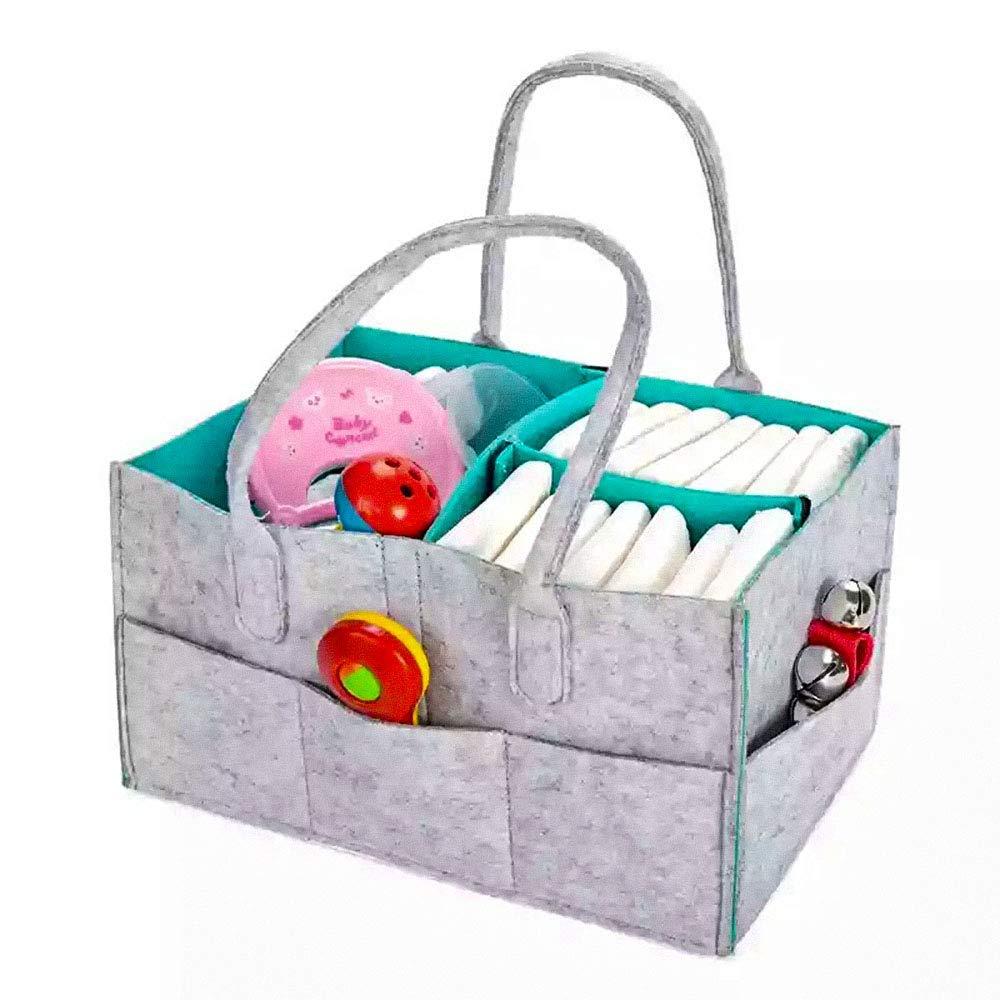 Baby Diaper Organizer Diaper Caddy Organizing Felt Basket Portable Storage Bin