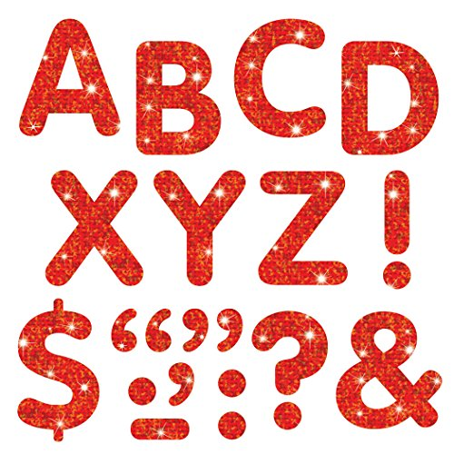 Trend Enterprises Sparkle Letters & Marks Stick-Eze Stick-On Letters, 2