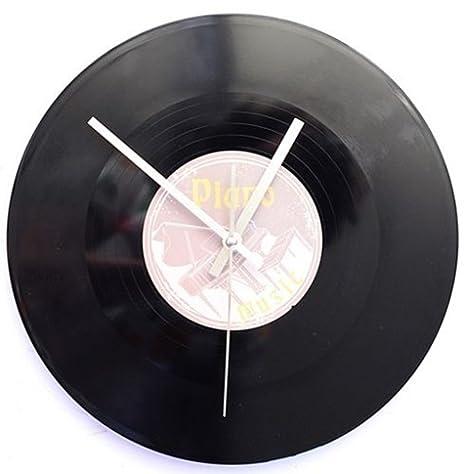 SSITG Reloj de pared Tocadiscos Maxie Retro LP Música DJ 80 ...