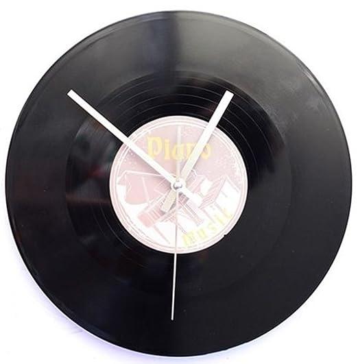 SSITG Reloj de pared Tocadiscos Maxie Retro LP Música DJ 80 años ...