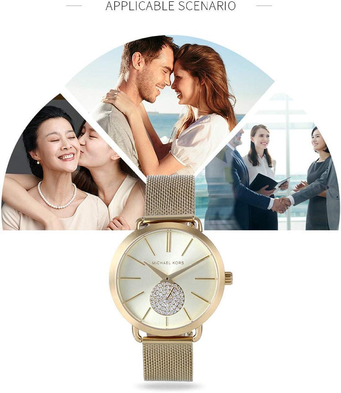 Montre pour Femme Sertie De Diamants Et De Montres Britanniques, Montre Étanche en Maille d'acier Inoxydable pour Filles A