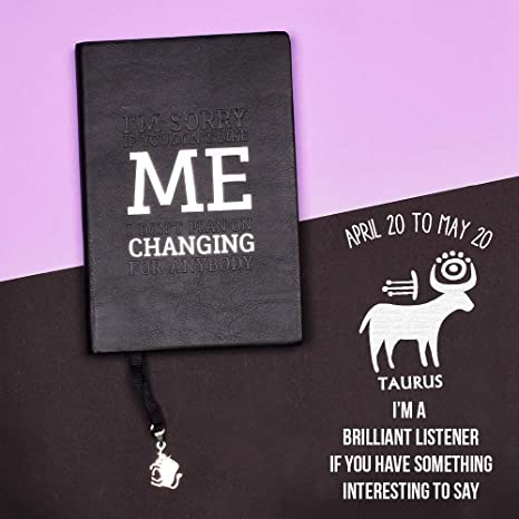 Doodle Zodiac Sign Taurus Diary Notebook Size B6Ruled Pages80 GSM
