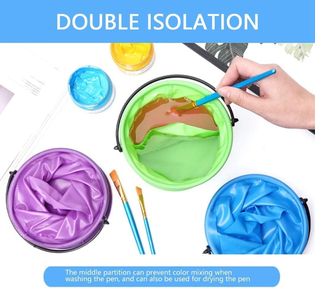 Ktyssp Paint Brush Washer Kids Outdoor Fishing Foldable Water Bucket Multifunction