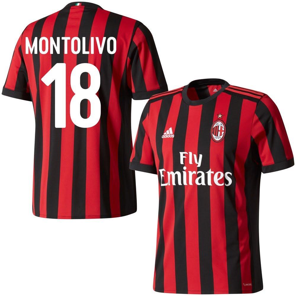 AC Mailand Home Trikot 2017 2018 + Montolivo 18 (Fan Style)