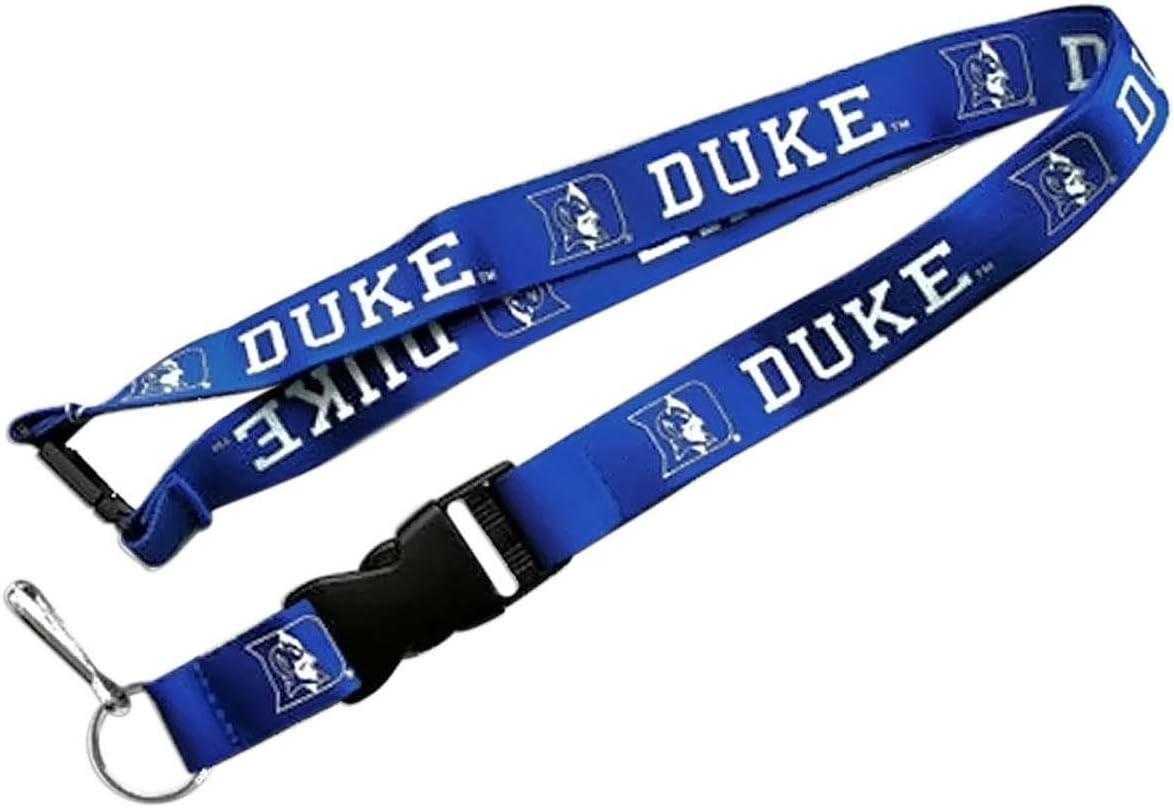 DUKE BLUE DEVILS GRAY LANYARD DETACHABLE BUCKLE NEW WINCRAFT