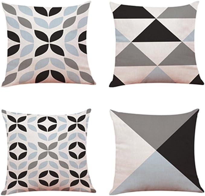 Fossrn 4PC/Conjunto Fundas Cojines 45x45 Geométricas Modernos Funda de Cojines para Sofa Jardin Cama Decorativo: Amazon.es: Ropa y accesorios