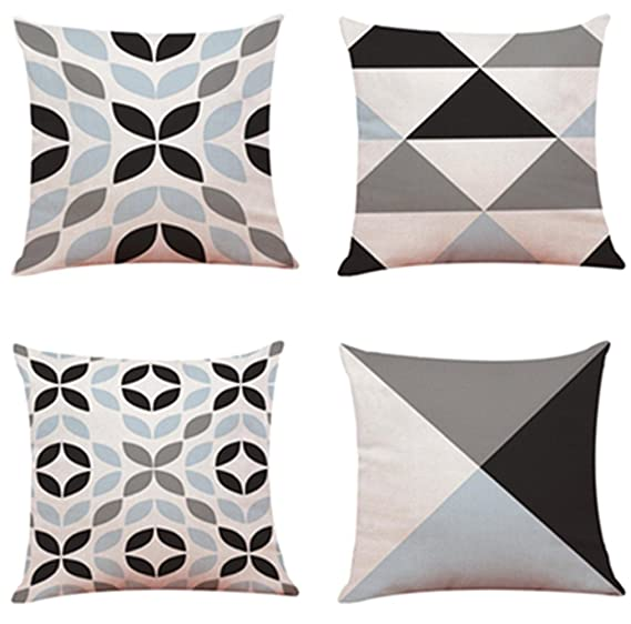 Cojines Bonitos Online.Fossrn 4pc Conjunto Fundas Cojines 45x45 Geometricas Modernos Funda De Cojines Para Sofa Jardin Cama Decorativo
